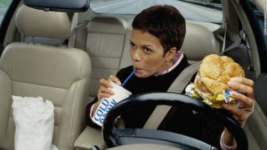 Avoid snacking in your car