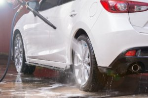 Rinse The Tires With Water