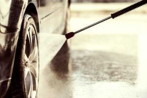Wet The Tires With Clean Water