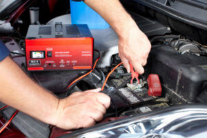 Charging A Car Battery With A Battery Charger
