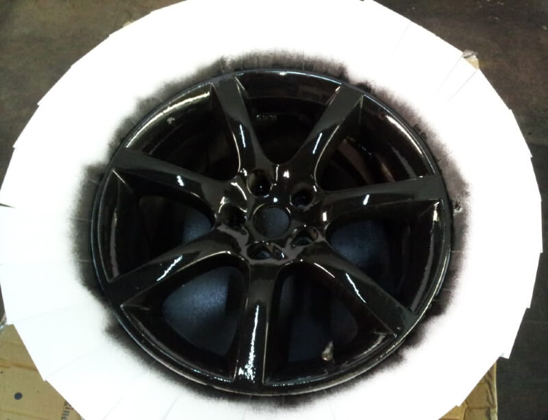 Paint rims black with plasti dip.