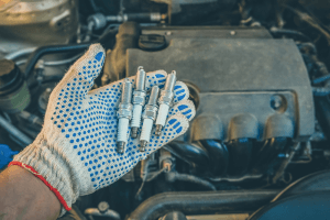 Replacing spark plugs in the car
