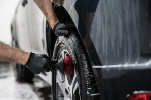Washing Your Vehicle: Use a wheel cleaning brush.