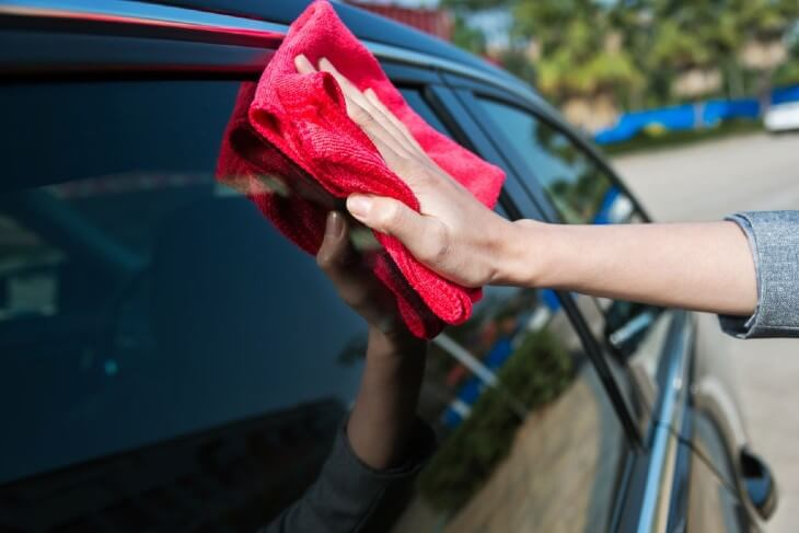 Washing Your Vehicle: Wipe the exterior side of the windows using a separate towel.